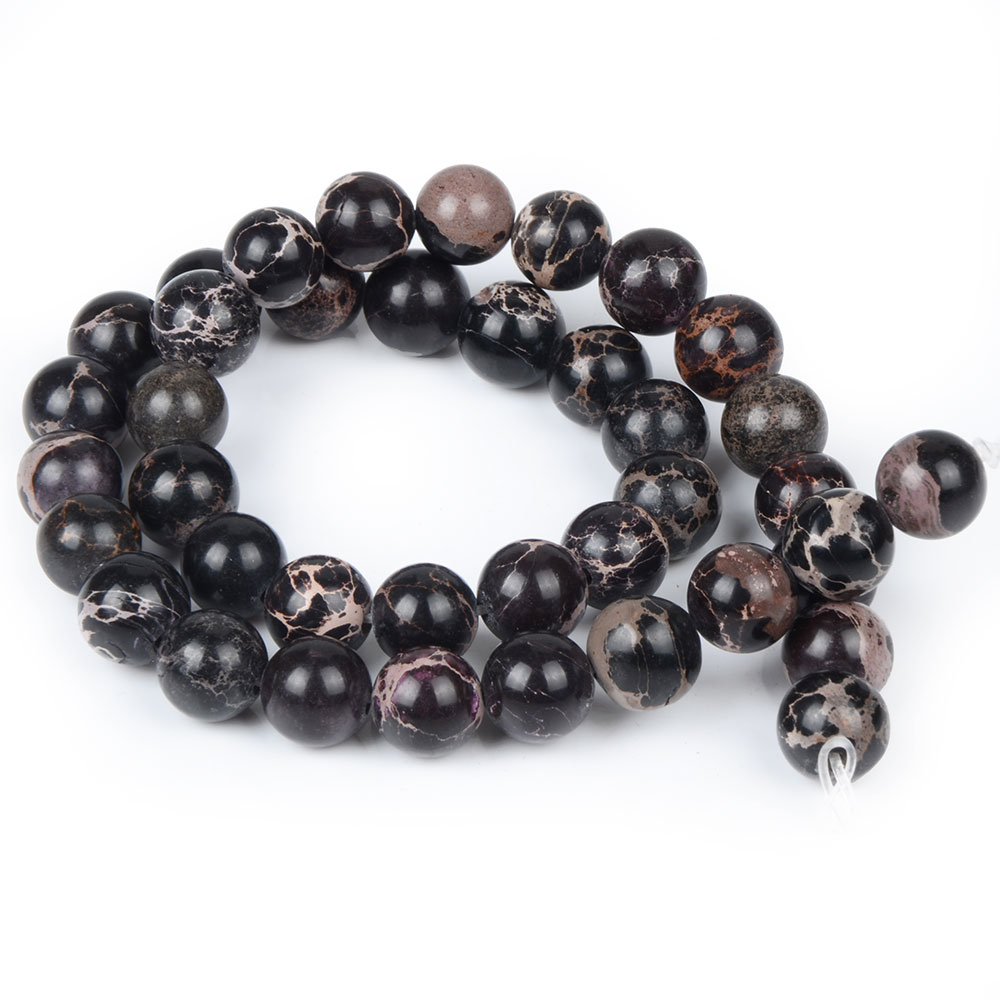 Black And purple Stone Women Jewelry Fashion Making Loose Beads 4 6 8 10 12mm