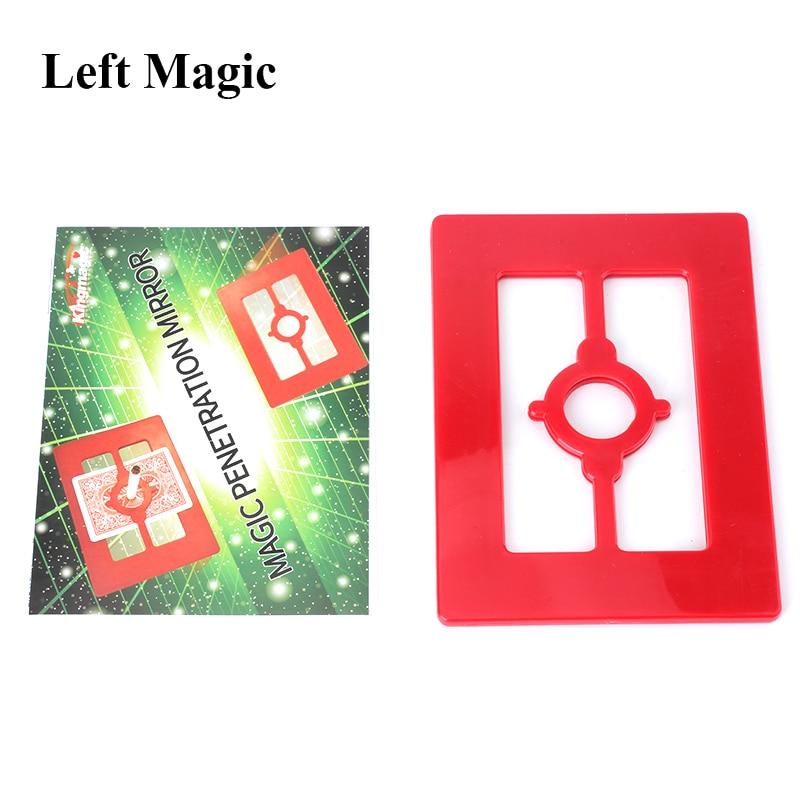 Magic Penetration Mirror Magic Tricks Cross (Alien Space) Magic Props Close Up Magic Accessories Stage Fun Illusions
