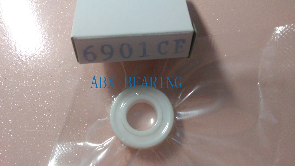 6901-2RS full ZrO2 ceramic deep groove ball bearing 12x24x6mm sealed 61901-2RS free shipping 6901 61901 si3n4 full ceramic bearing ball bearing 12 24 6 mm