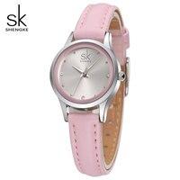 SHENGKE 2017 Top Brand Luxury Wristwatch Diamond Bracelet Women Watches Quartz Watch Female Clock Montre Femme