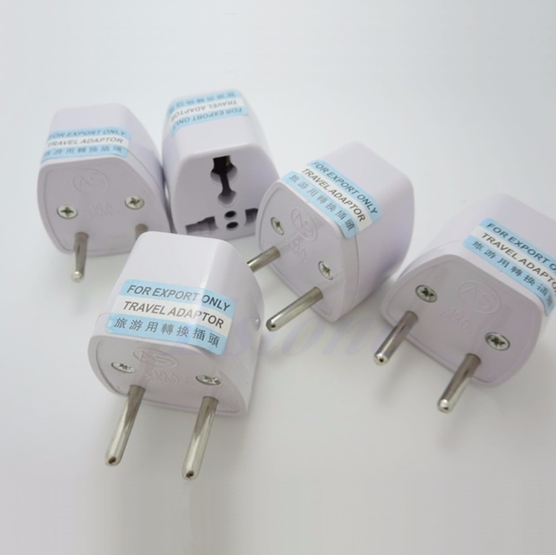 USA AU <font><b>CN</b></font> <font><b>to</b></font> European <font><b>EU</b></font> AC <font><b>Plug</b></font> Power Adapter Converter 250V For Travel Drop Shipping Support image