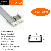 Tinyorda 1000Pcs (1M Length) Led Alu Profile  Led Channel Profil for 11mm LED Strip Light 1M LED Profile Alu Profile channel светильник donolux sa1541 sa1543 alu