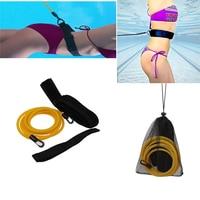 Новейший 3 м/4 м регулируемый для взрослых детей, для купания, банджи, тренажер, поводок, тренировочный пояс для плавания, шнур, средство безоп...