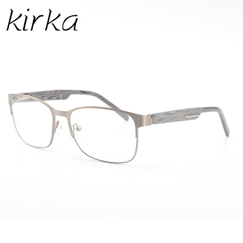 73d5188c2211 Kirka Metal Eyeglasses Frames Men Classic Optical Eyeglass Big Square Frame  Clear Lens Reading Glasses Frames