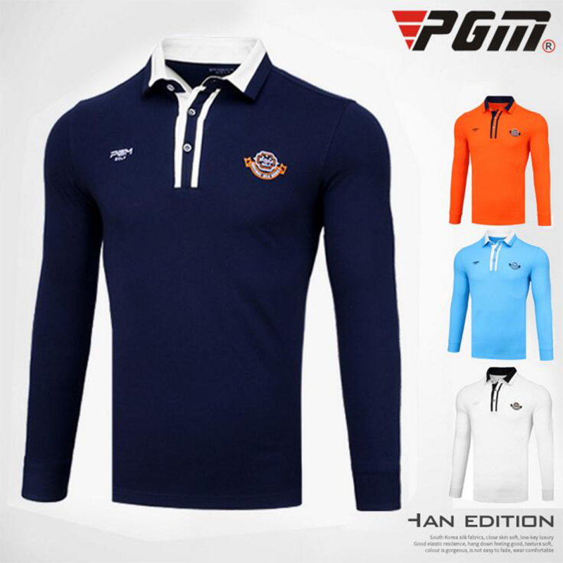 2017 PGM Brand autumn men golf shirts long-sleeve training garment sports jersey shirts polo tops golf wear brand shirt