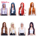 L-email wig 80cm Long Straight 8 Colors Synthetic Women Wigs Anime GINTAMA Sarutobi Ayame Cosplay Wigs CW280