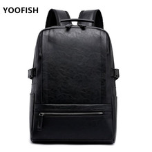 2019 Hot! Men fashion backpack male travel mochilas school mens leather business bag large laptop shopping