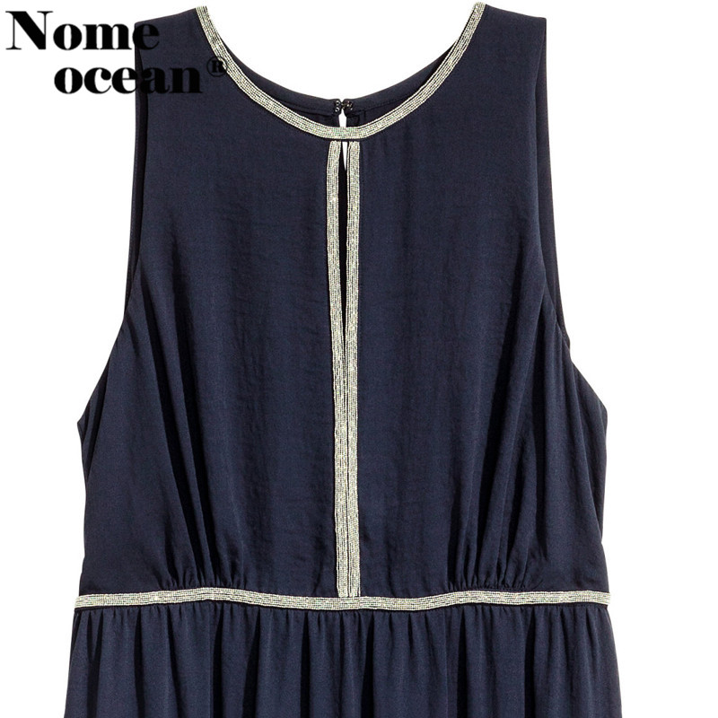 Shining Beading Rhinestone Maxi Dress Cut Out Front Rivet Beaded 2018  Summer Tank Dress Oversized Long Dress Plus Size M17060205-in Dresses from  Women s ... 03686dd61a76