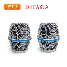 ETJ 2 adet Beta87A ızgara topu Shure topu kafa değiştirme Beta 87A aksesuarları