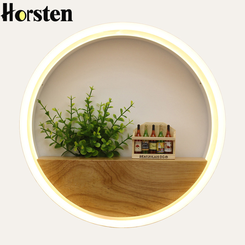 Horsten Modern Nordic Creative Minimalism LED Wall Light Lamp Sconce Acrylic Indoor Novelty Lighting For Bedroom Living Room