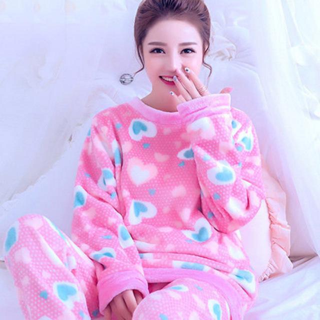 Inverno Das Mulheres Coral Fleece Sleepwear Sexy Kgurumi Inverno Outono Quente Camisola Roupão Quimono Roupão Roupão Para A Senhora