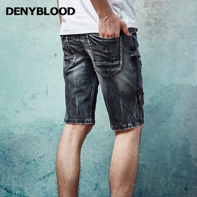black denim shorts ripped mens