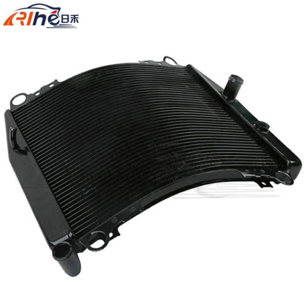 motorcycle radiator cooler aluminum motorbike radiator black For Kawasaki Ninja ZX-7R ZX750P 96 97 1998 1999 2000 2001 2002 2003