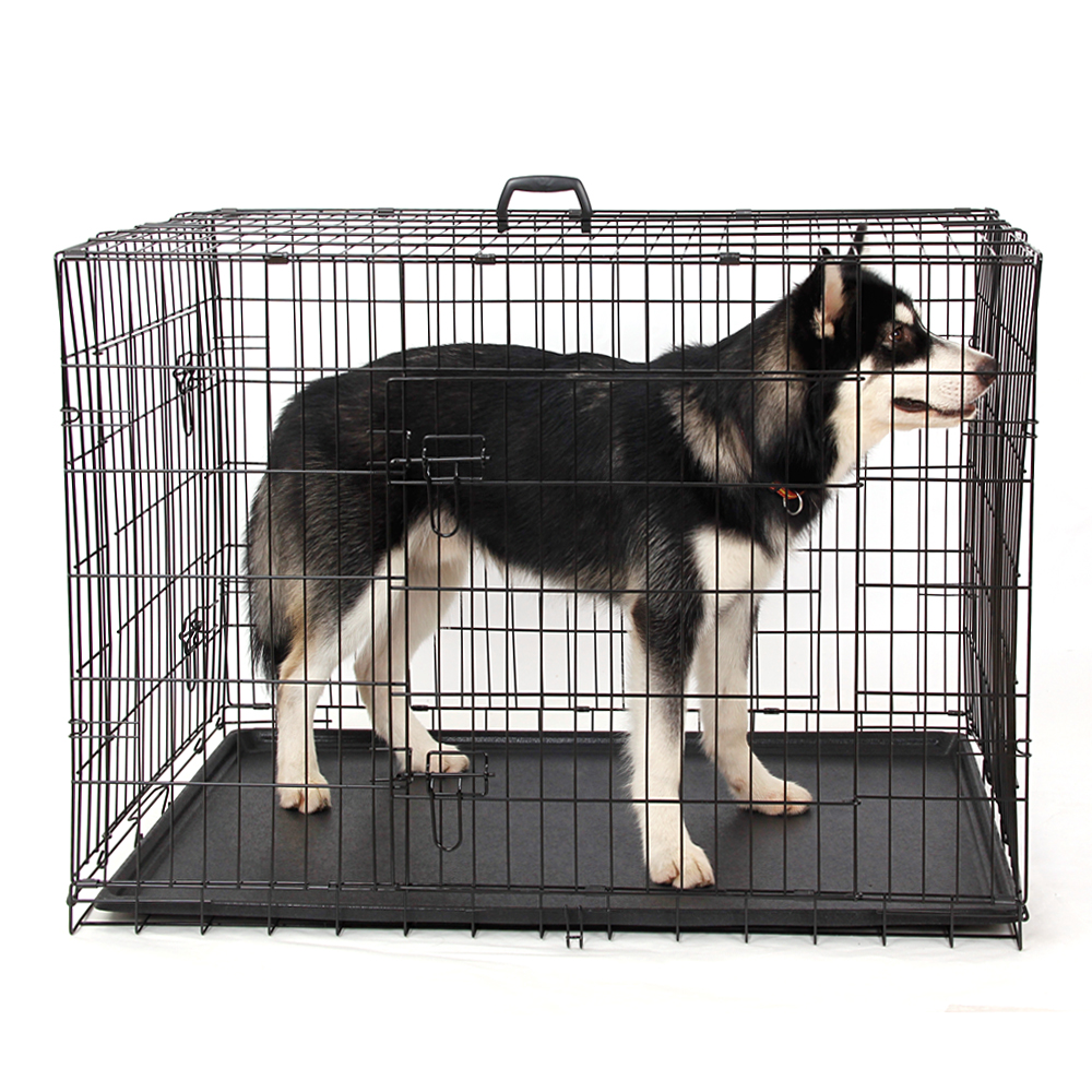domestic delivery wire foldable pet crate dog cat iron cage suitcase exercise playpen pet cage universal cage for pet 5 sizes - Collapsible Dog Crate