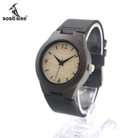 2016 Fashion Digits Gray Dial Bamboo Wooden Watch Mens Top Luxury Brand Analog Quartz Watch With