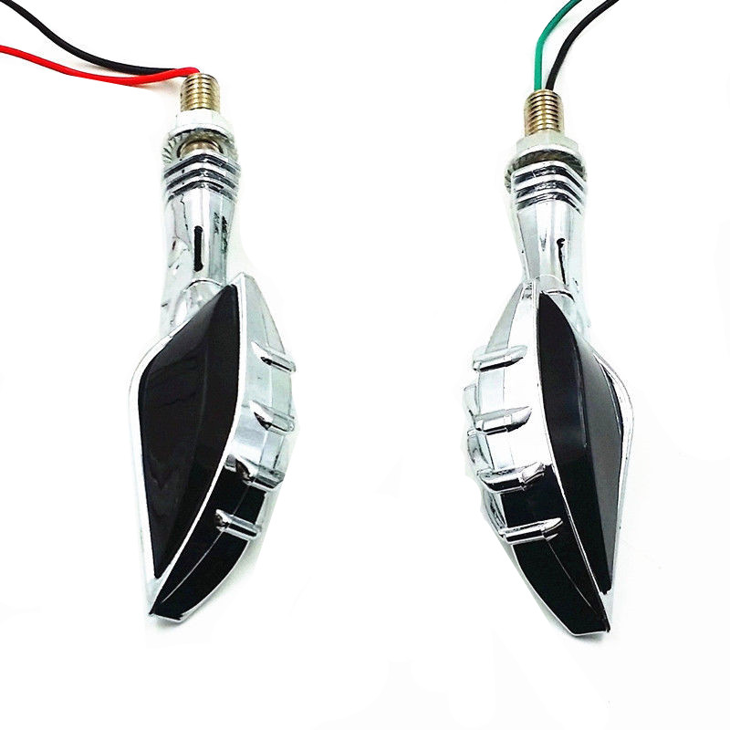 cheapest 2x Silver Skull Hand Universal Motorcycle Indicators LED Turn Signal Light For Honda Yamaha Suzuki Kawasaki Chopper Bobber