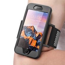Para iphone se 2020 caso para iphone 7 8 braçadeira supcase fácil encaixe esporte corrida braçadeira caso sem embutido protetor de tela