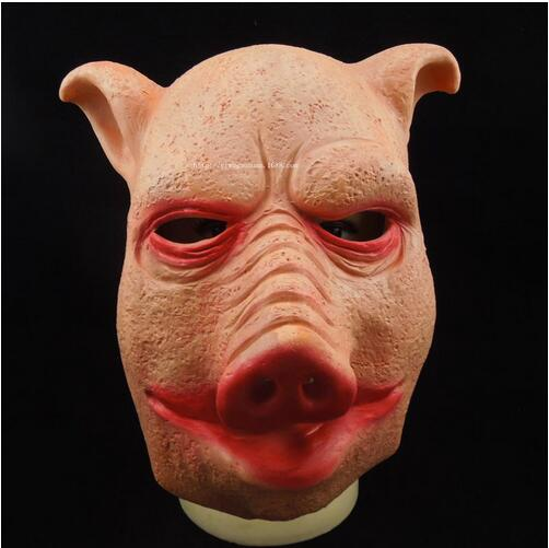 2016 New Saw 3 Pig Scary Mask Adults Full Face Animal