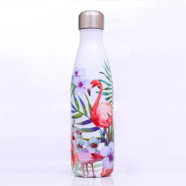 Bouteille d'eau florale sans BPA en acier inoxydable 4