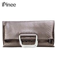 2016 Most Popular Women Clutch Bag Genuine Leather Serpentine Pattern Messenger Bags Shoulder Bags Python Snake