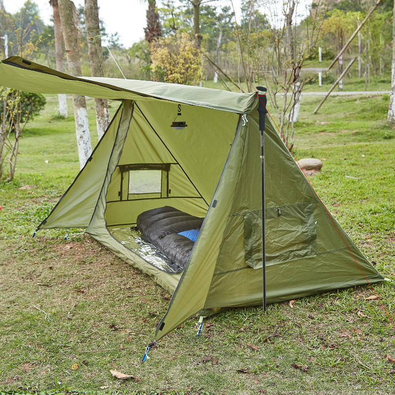 OneTigris 4 Season Tent Ultralight Shelter for Bushcrafters Survivalists Camping Hunting Hiking 68D Polyester Taffeta