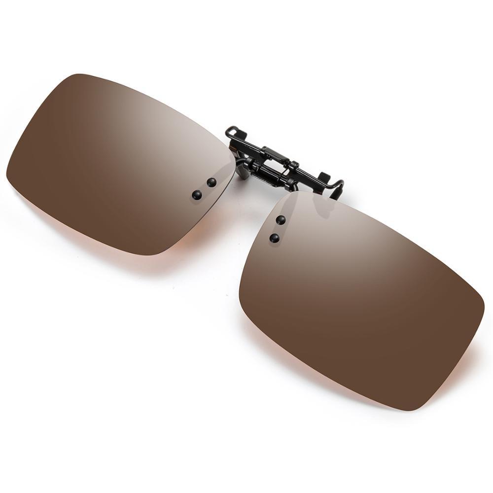 Clip on Polarized Sunglasses For Driving - Flip Up Rimless Sunglasses for Prescription Glasses Men/Women