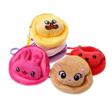 Plush Backpacks Mini Wallet Money Bag Pouch Key Card Holder Cute Animal Design gift for girls(China)