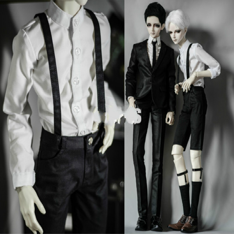 BJD doll clothes pants all-match strap multicolor optional  ~ BJD uncle 1/3 1/4 MSD SD10 1 4 1 3 uncle sd17 msd bjd sd doll accessories bjd clothes white red black pants