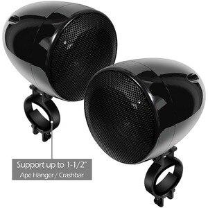 Image 5 - Комплект звукового сигнала для мотоцикла Aileap, 150 Вт, стереоусилитель 2 канала, водонепроницаемые колонки 4 дюйма, Bluetooth, FM радио, AUX MP3 (черный)