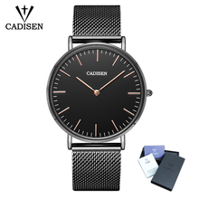 CADISEN Top Brand Luxury Quartz Watches Men Stainless Steel XFCS Men Watches Male Wrist Watch Relogio Masculino Clock Gift 1 pair men and women watch single quartz stainless steel wrist watches gift clock relogio feminino masculino relojes fe20