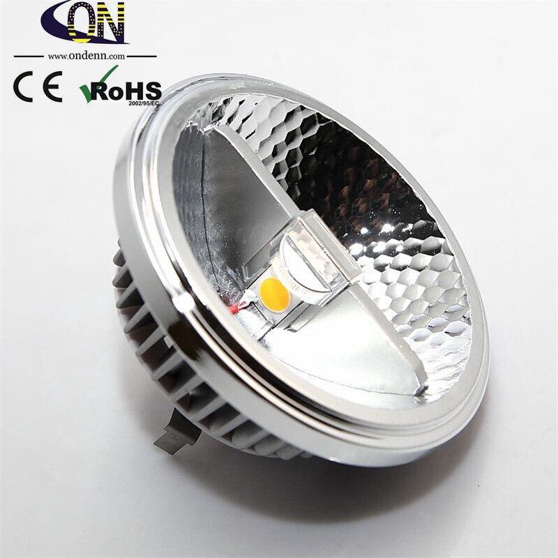 Super Bright AR111 15W COB LED Downlight AR111 QR111 G53 LED Bulb light Dimmable AC110V 220V