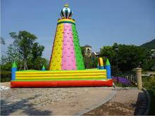 Outdoor sport inflatable climbing wall for 3-12 years old kids недорого