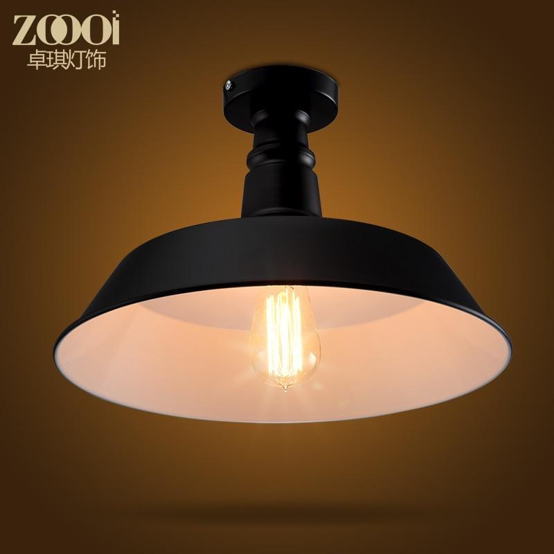 ФОТО Loft Style Black/White Cover Dining Room Ceiling Light Corridor Light Coffee Shop Light D360MM Free Shipping