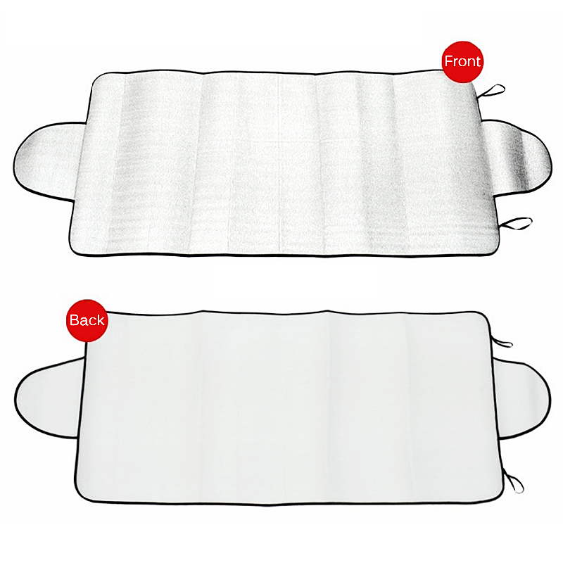 Cdet 1 x Aluminium Protective Foldable Anti-UV Car Vehicle Windshield Sun Visor Shade