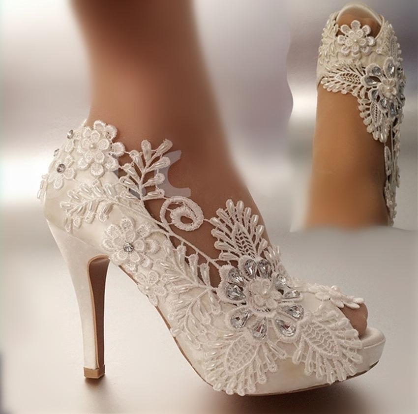 Femmes chaussures escarpins ouvert Peep Toe mariage chaussures mariée perle ultra hauts talons strass satins taille 41 42 43 sexy talons