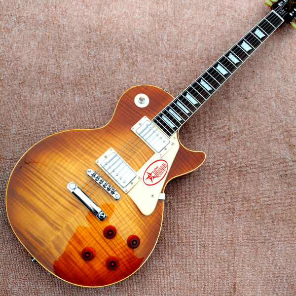 Wholesale Custom shop 1959 R9 Tiger Flame electric guitar Standard LP 59 electric guitar HOT! custom shop classical vintage sunburst tiger flame lp standard chinese electric guitar lefty available
