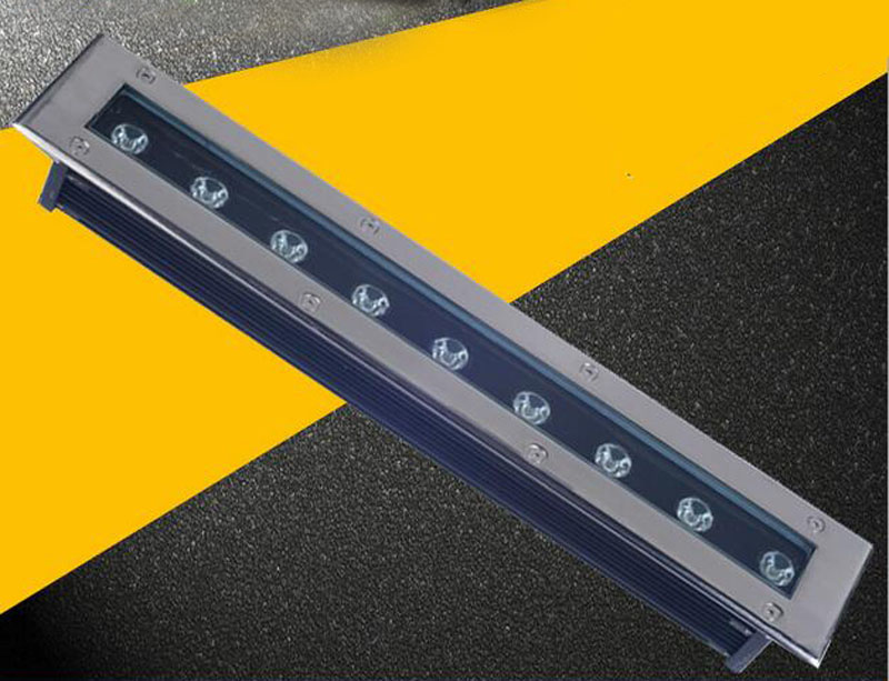 5pcs/lot led bar 9w rectangle led underground light inground led lights buried lamp 130lm/w ac85-265v garden light ground 12v