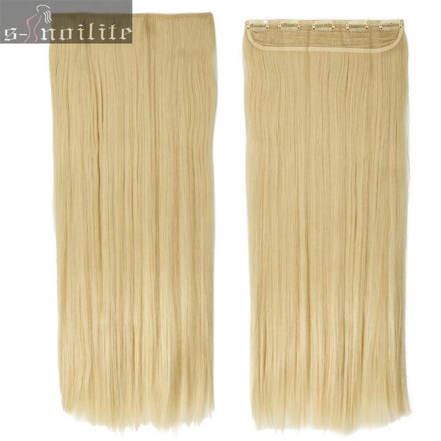 613 Bleach Blonde 58cm 23inches 34 Full Head Clip In Hair