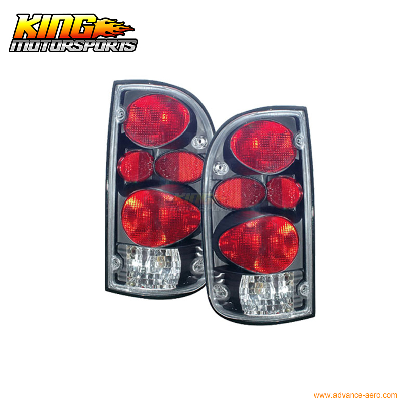 For 95-96 97 98 99 00 Toyota Tacoma Tail Lights Lamps Black USA Domestic Free Shipping for 97 98 99 nissan maxima 4 pcs tail lights red clear usa domestic free shipping