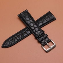 16mm 18mm 19mm 20mm 21mm 22mm Size Beschikbaar Zwart Echt Alligator Lederen Horlogebandje Band Writwatch armbanden riemen Gesp