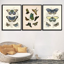 Abstract Butterfly Wall Art Canvas Painting Modern Animals Nordic Poster Pictures For Living Room Home Decor Unframed