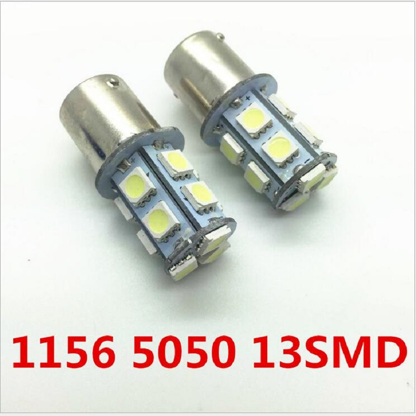 2pcs/lot 1156 1157 BA15S P21W 13 SMD 5050 13 LED 13smd Brake Tail Turn Signal Light Bulb Lamp Auto led Car bulb light 12V
