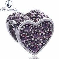 Real 100 925 Sterling Silver Forever Love Heart Bead Charm Fit Original Pandora Bracelet Diy Fine