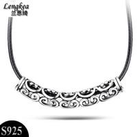 Men choker,fashion Cutout s925 thai silver pendant male vintage nacklace national fashion trend personality jewelry,gift