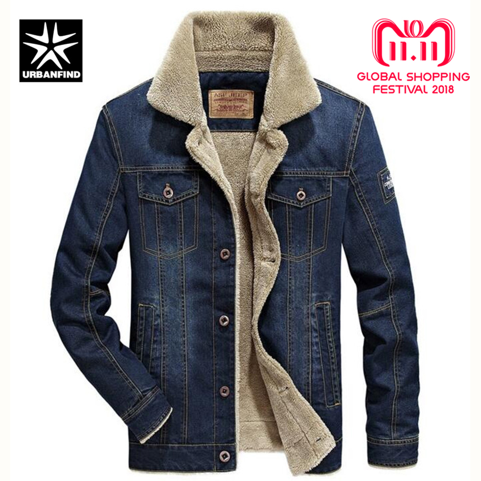 URBANFIND M-6XL для мужчин куртка и пальто для будущих мам брендовая одежда джинсовая мода Мужская джинсовая куртка толстые теплые зимняя верхняя