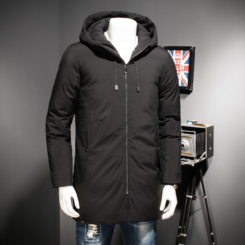 2018 NEW Plus Size 8XL 7XL 6XL Thick Warm Winter Leisure Cotton-Padded Down Jacket Men Long Loose Hoods Coat Parkas Big Size