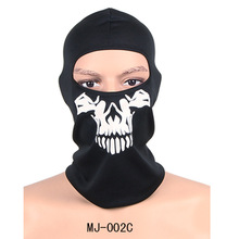 Outdoor Motorcycle Bicycle Multi Function Headwear Hat Scarf Half Face Ski Masks Halloween Skull Skeleton Mask