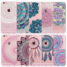Retro Case For Apple iPhone 5 5s SE 6 6s 7 Plus Floral Paisley Flower Mandala Henna Coque Clear Silicone Soft Cover Fundas