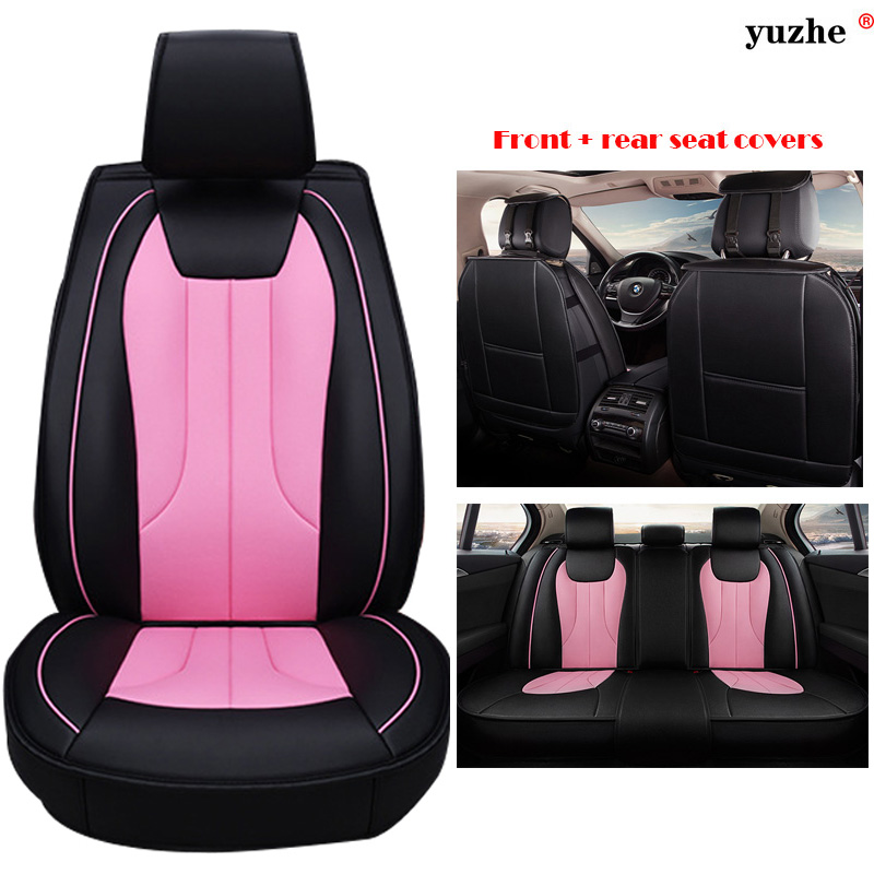 Yuzhe Universal Leather car seat cover For Land Rover Discovery Sport freelander Range Sport Evoque Defender accessories styling