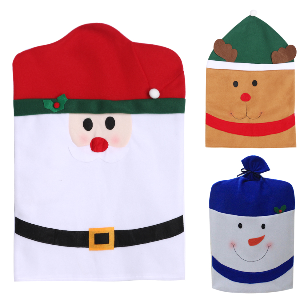 Santa Clause/snowman/elk Christmas Chair Covers Cute Chair Back Covers New Year Party Table Christmas Gift Dinner Decor 40 x60cm